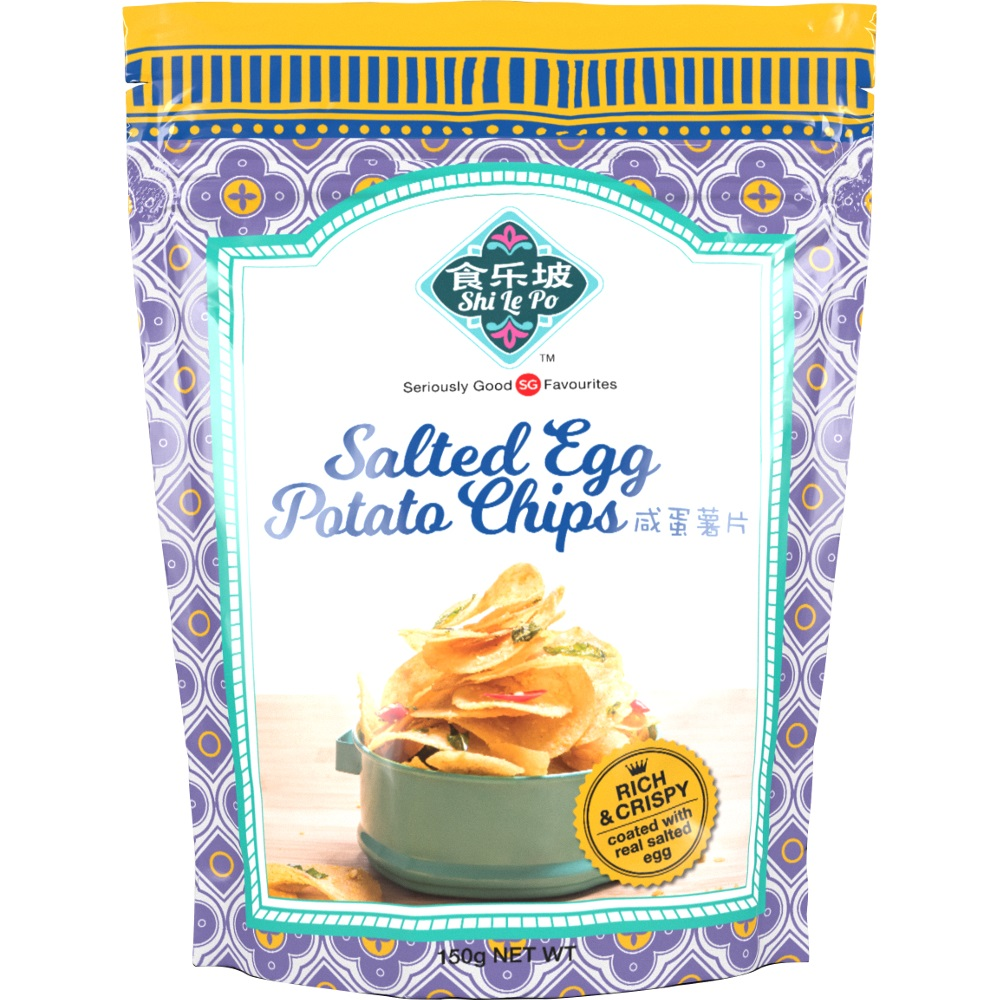 Shi Le Po – Salted Egg Potato Chips   Singapore Food Gifts